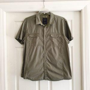 GUESS Short Sleeve Utility Shirt Slim XL